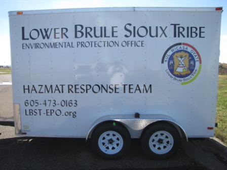 Lower Brule Sioux Tribe hazmat trailer